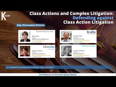 Class Actions and Complex Litigation