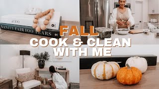 FALL HOUSE CLEAN & COOK WITH ME!