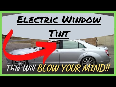 Electric Window Tint, Adjustable Window Tint, Variable Electrochromatic Tint. Just Unreal!!