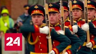 Москва. Парад Победы 2017. Прохождение пеших колонн