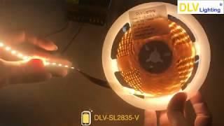DLV-SL2835-V. Đèn led dây 2835 12V 128led/m ánh sáng vàng - DLV Lighting