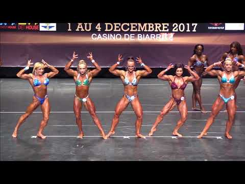 Women's Physique up to 163 at the IFBB World Fitness Championships 2017 (Biarritz), comparison