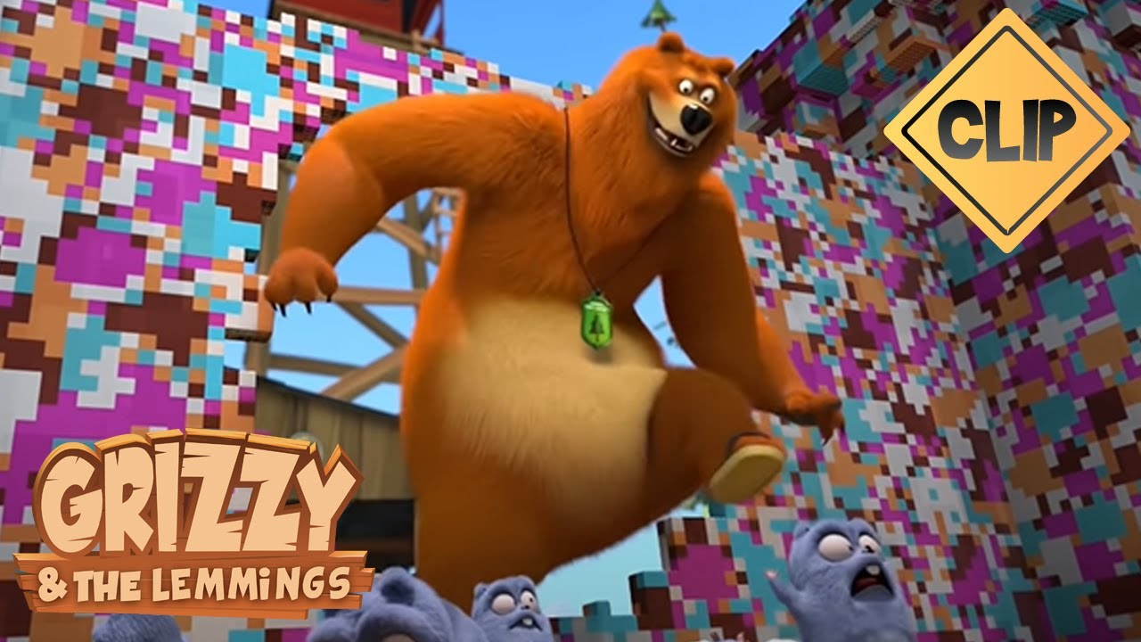 Grizzy et les Lemmings s'affrontent avec des Lego ! - Grizzy & les Lemmings