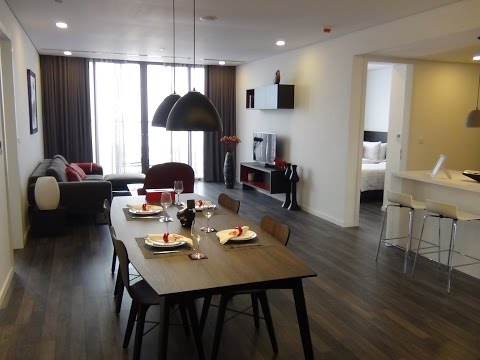 Somerset West Point Hanoi 2bed123㎡の室内風景