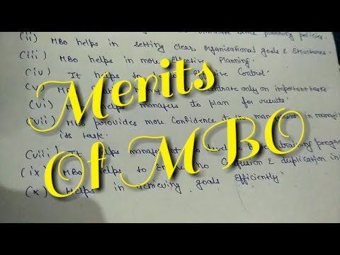 Merits/characteristics/importance Of Management By Objectives(MBO)