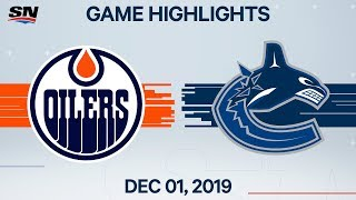 NHL Highlights   Oilers vs. Canucks – Dec. 1, 2019