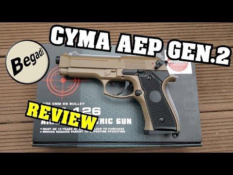 Cyma CM.126 Gen.2 LiPo Mosfet AEP - REVIEW 4k/UHD