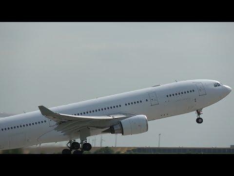 Hi Fly Airbus A330-202 Landing & Short Take Off @ Leipzig/Halle Airport Rwy 26R 28.04.2018