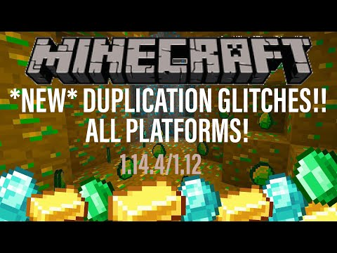 *NEW* Minecraft DUPLICATION GLITCHES for ALL PLATFORMS! 1.14.4 Village and Pillage Java Xbox PC PS4