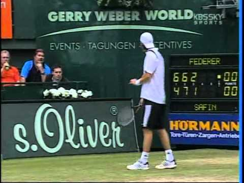 ATP Masters Gerry Weber 2005 Final Federer vs Safin 2