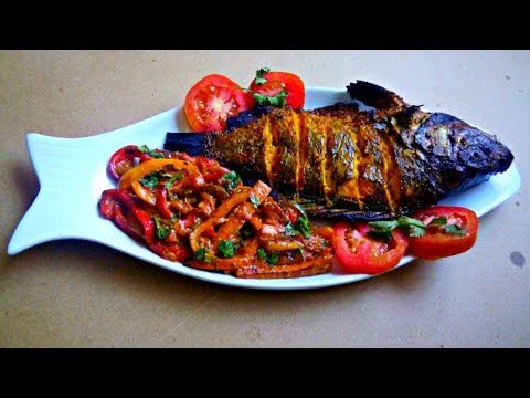 Oven Baked | Grilled Tilapia With Stir Fried Vegetables In Coconut Sauce | Jikoni Magic