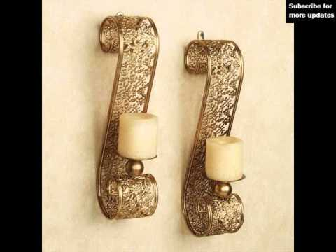 Metal Wall Sconce Candle Holder modern candle wall sconces | candle holders - youtube