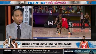 Stephen A. Smith shocked Philadelphia 76ers trade for James Harden | ESPN First Take HD