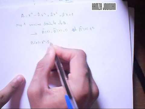 #21# application sur les polynôme :déterminer PGCD et PPCM à l