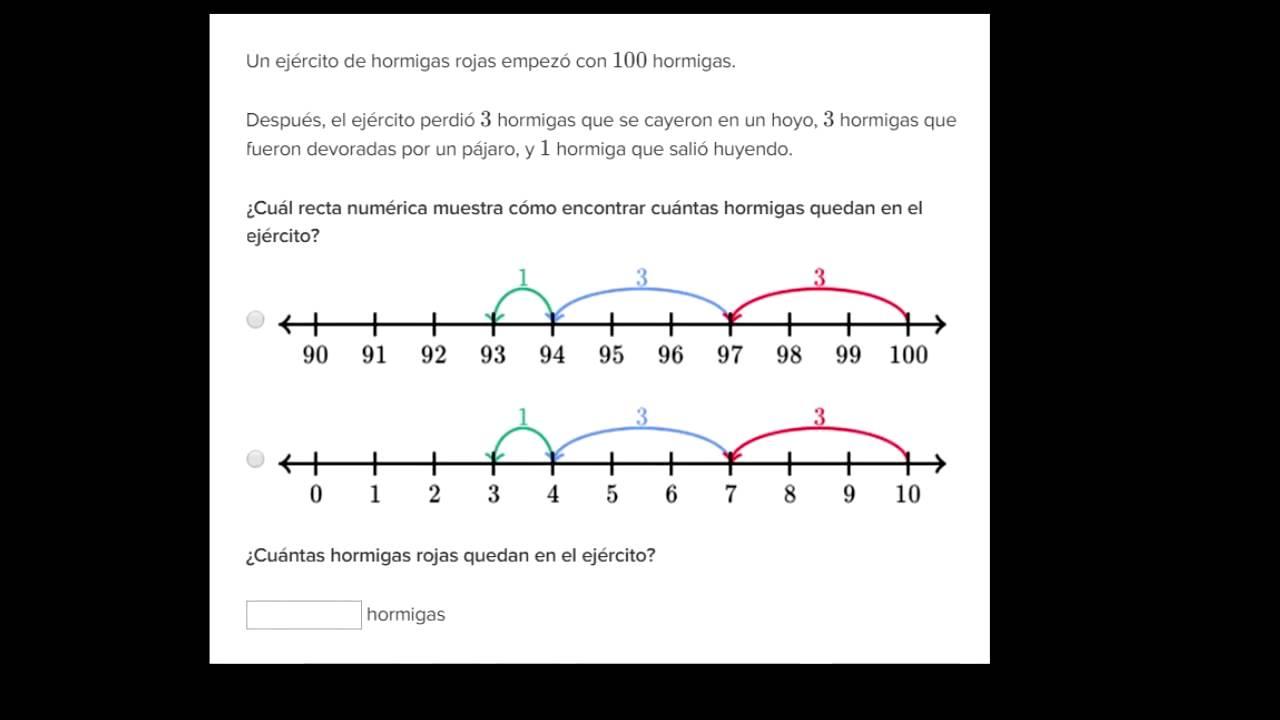 Problemas de suma y resta en la recta numérica - YouTube