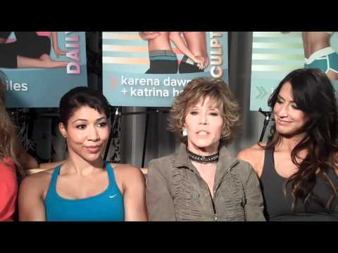 Jane Fonda with Team Fonda DVD Launch Event