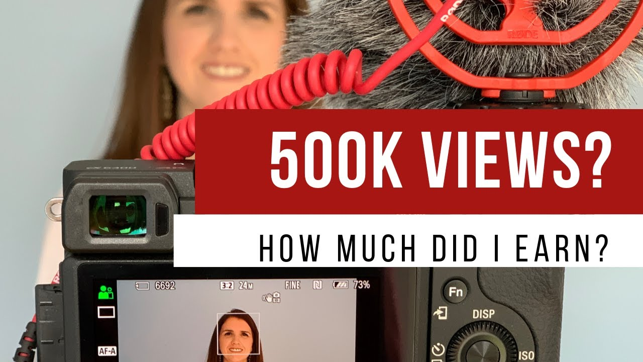 How much did Youtube PAY ME for 500,000 views?