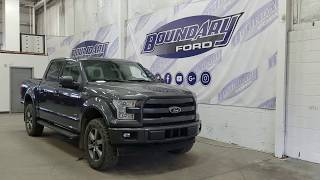 Pre-owned 2017 Ford F-150 SuperCrew Lariat Sport 502A W/ 3.5L EcoBoost Overview | Boundary Ford