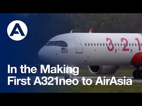 In the Making: First #A321neo to AirAsia