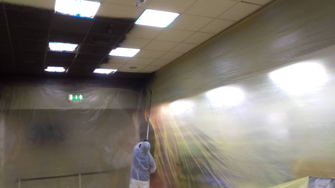 Ceiling Tile Coating A Fraction Of Replacement Costs Youtube