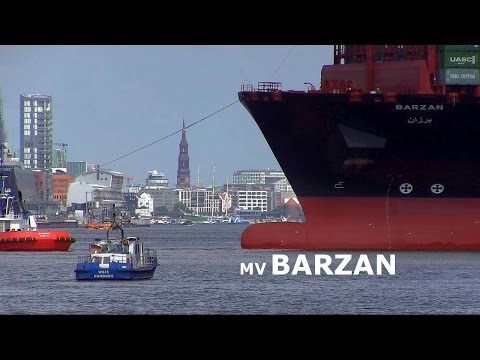 "MV ""BARZAN"" Longest Container Ship of the World, First Visit in Port of Hamburg"