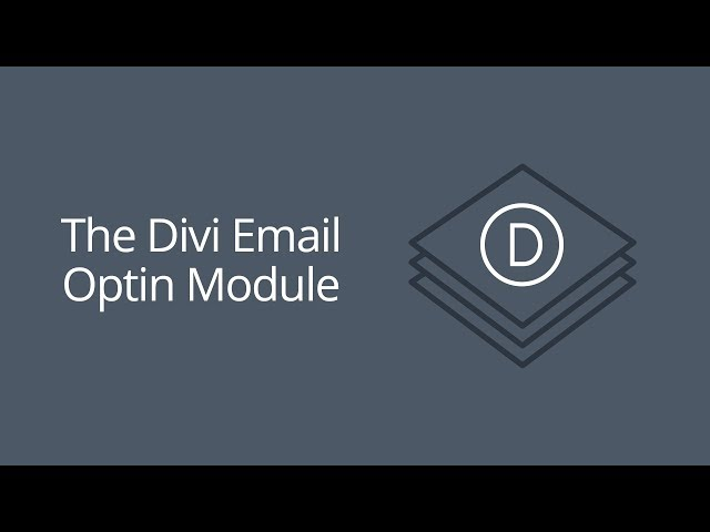 The Divi Email Optin Module