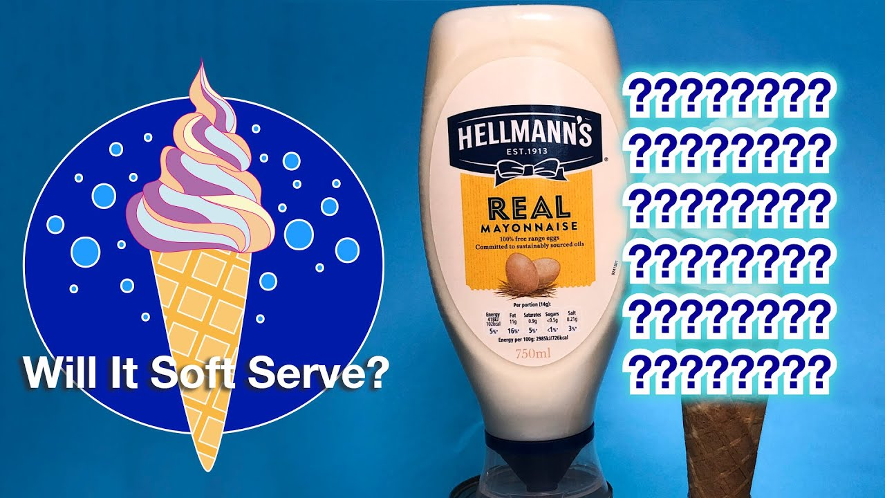 Youtube Thumbnail Image: Mayonnaise - Will It Soft Serve?