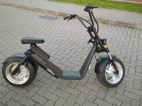 видео: краткий обзор caigiees harley electric scooter