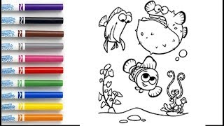 How to Draw Nemo Coloring Book Page