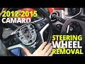 How To Remove 2012 - 2015 Chevy Camaro Steering Wheel and Clock Spring