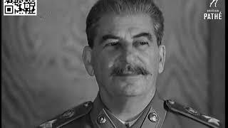 Смотреть видео Как выглядел Сталин. Прием в Москве фельдмаршала Монтгомери, Москва 1947 онлайн
