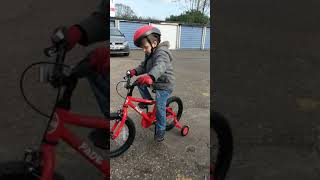 Blake Learning To Ride His First Proper Bike