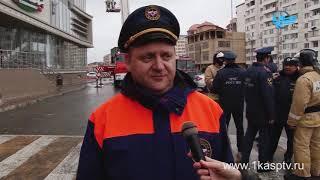 «Сигнал тревоги»  В торговом центре Каспийска прошли пожарно тактические учения МЧС