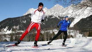 Обучение коньковому ходу. Беговые лыжи.