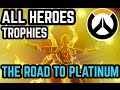 EARNING EVERY CHARACTER ACHIEVEMENT//TROPHY IN OVERWATCH
