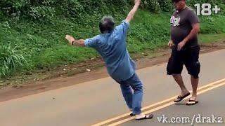 Драка с пожилым мужиком   old man fight