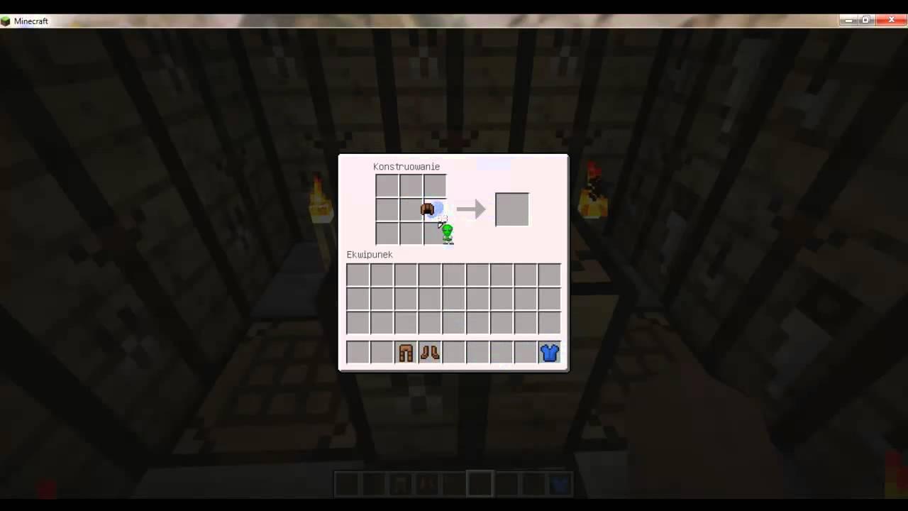 Minecraft Poradnik Jak Zrobic Kolorowa Skorzana Zbroje Youtube