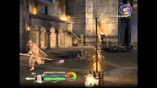 Live Gameplay/El señor de los anillos - El Retorno del Rey/Camino del Mago-Minas tirith/patio