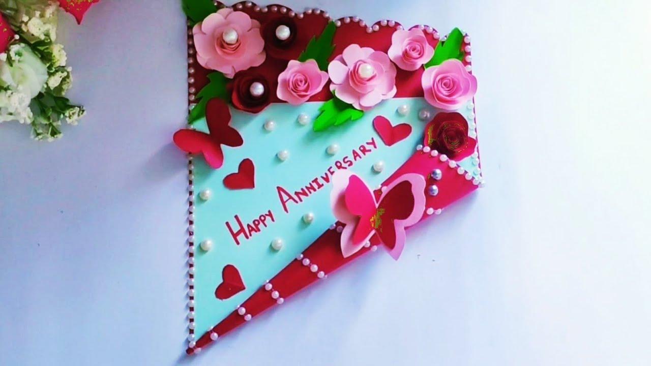 beautiful anniversary card idea  how to make anniversary