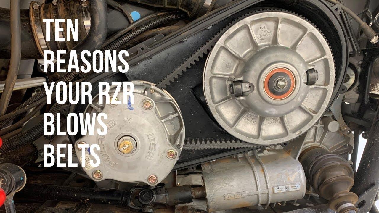 f84f33ddf 10 Reasons Why Your Polaris RZR Belt Fails - YouTube