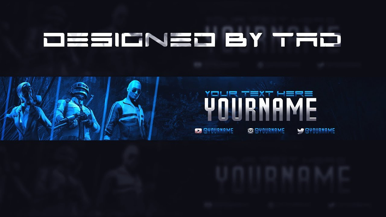 Pubg Youtube Banner Template (FREE)