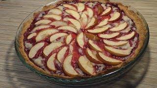 Яблочный пирог с брусникой