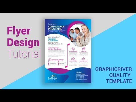 Graphic design projects for beginners | Online Graphic Design tutorial | Business Flyer Design thumbnail