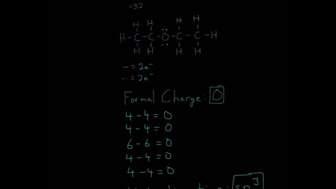Lewis Structure of Diethyl ether CH3CH2OCH2CH3 - YouTube