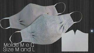 MOLDE - Máscara de pregas dupla face | MOLD - Double-sided pleated mask