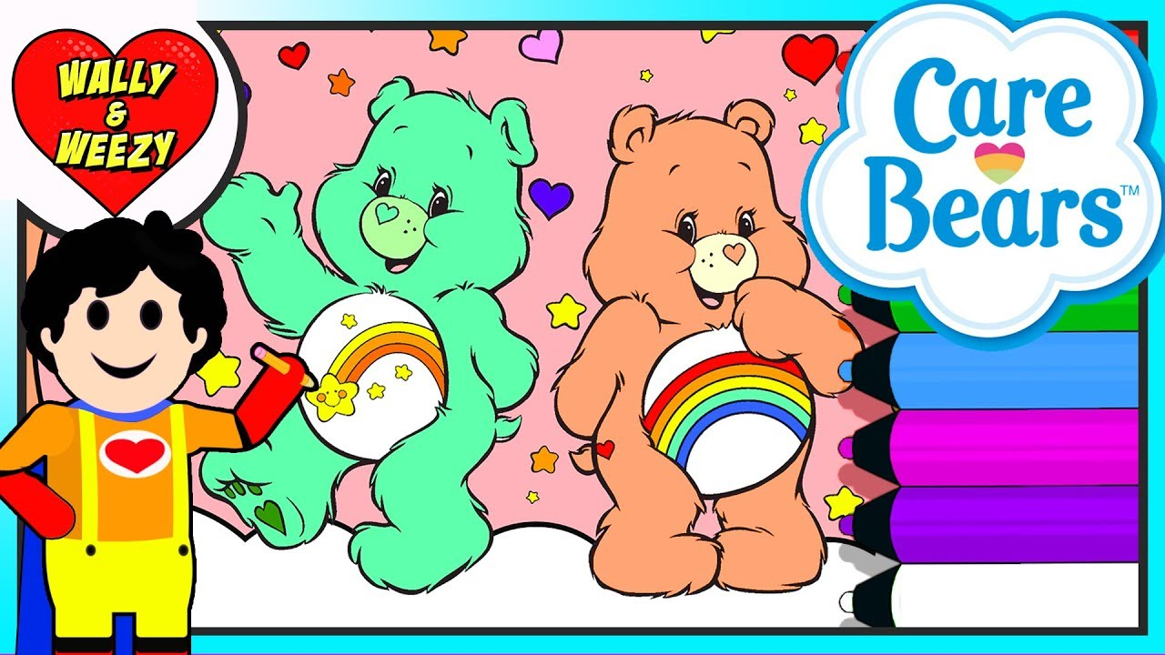 Coloring Care Bears | Wally and Weezy