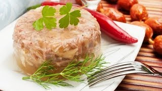 Заливное из курицы на бульоне из свиных шкурок. Пошаговый рецепт.