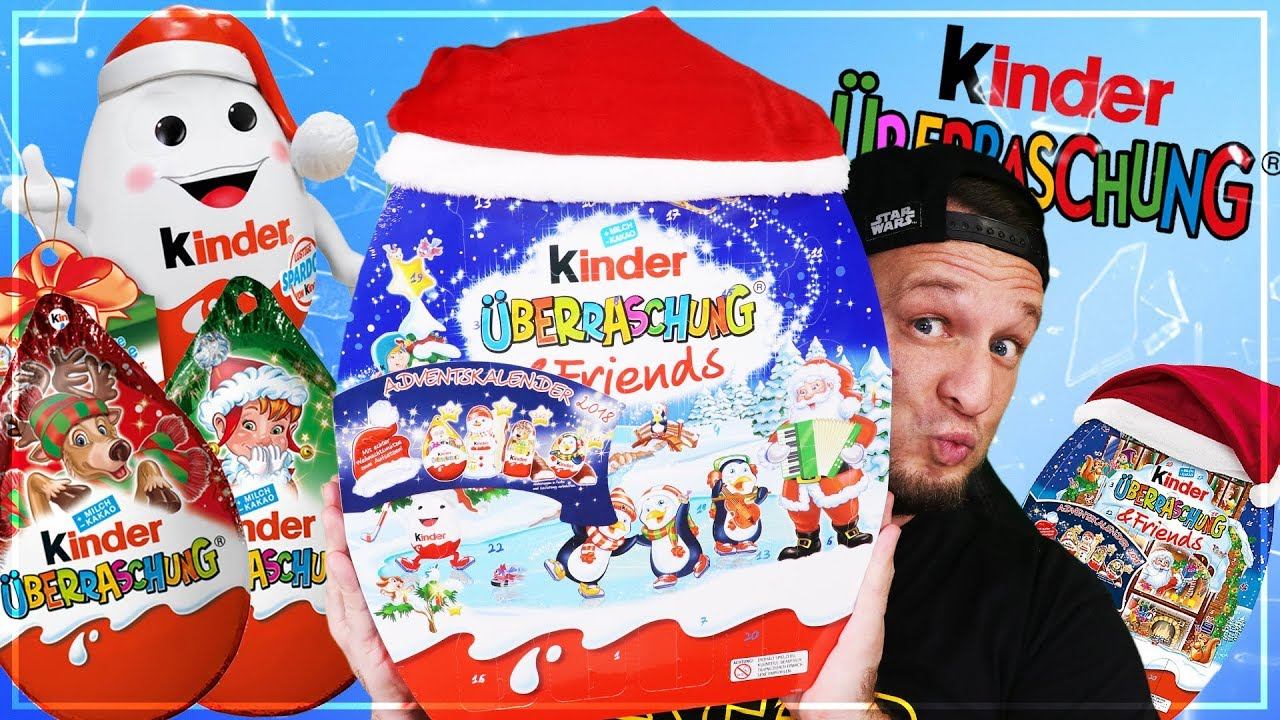 kinder berraschung ei adventskalender 2018 unboxing youtube. Black Bedroom Furniture Sets. Home Design Ideas