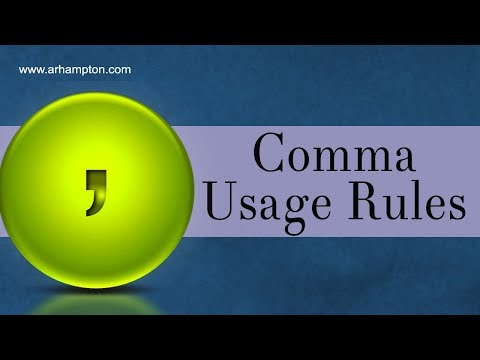Comma Usage Punctuation