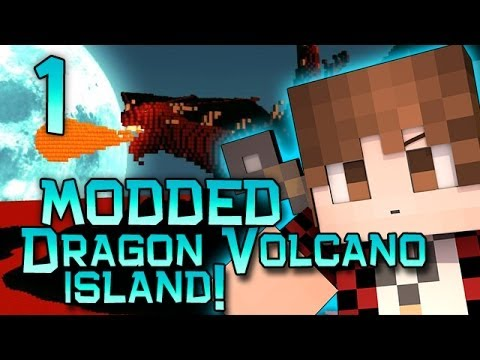 Minecraft: Dragon Volcano Island Modded! wMitch, Jerome and Ryan! Part 1  New Weapons and Mobs!
